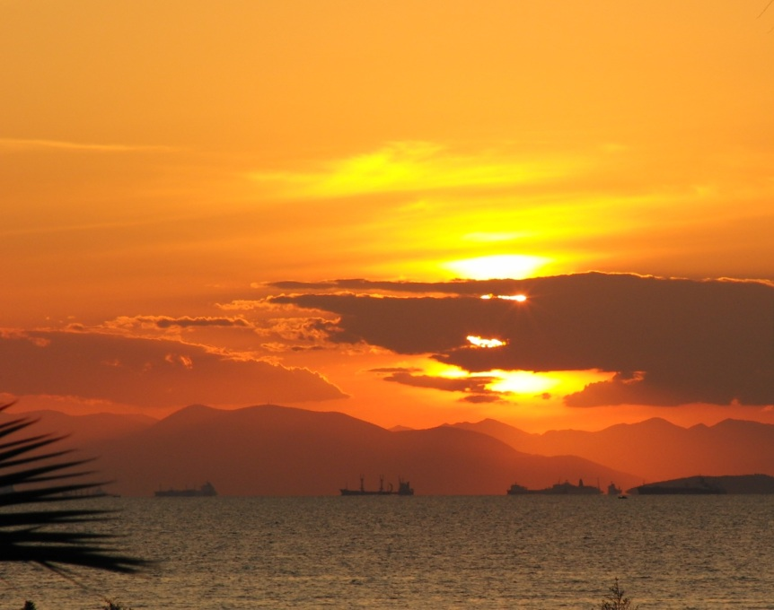 Sonnenuntergang Athen Ηλιοβασίλεμα Αθήνα, Ελλάδα