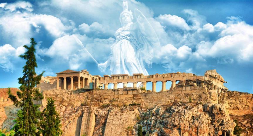 Athena Promachos , Αθηνά Πρόμαχος