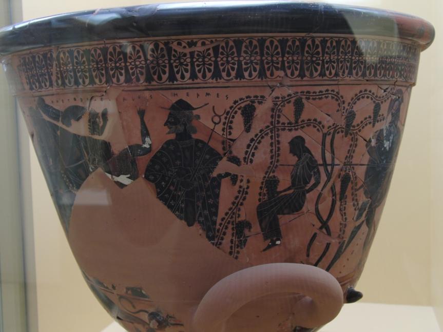Hermes auf Vase (Museum Athen)