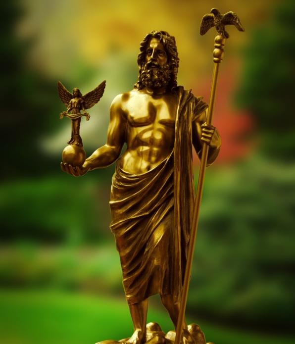 Zeus, Vater der Götter und der Menschen. Ζεύς, πατήρ θεών τε και ανθρώπων