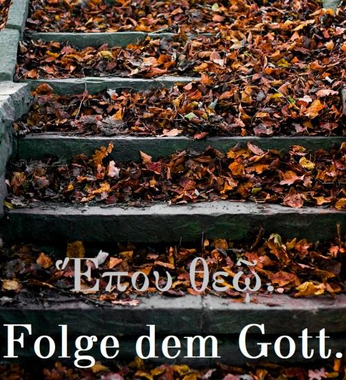 Folge dem Gott