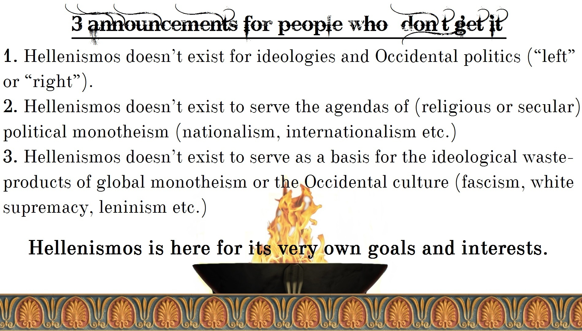 Hellenismos politics ideologies
