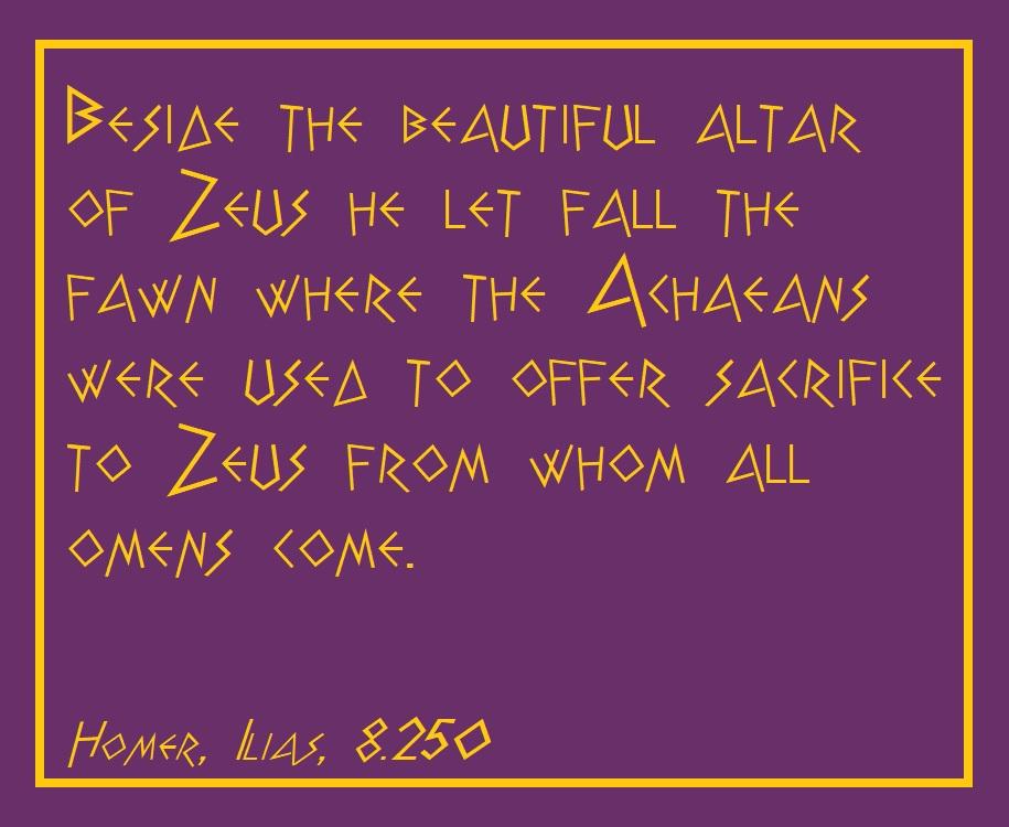 Homer, Ilias, 8.250
