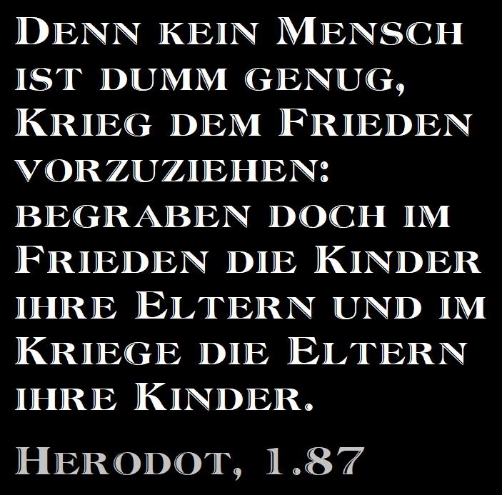 Herodot über Krieg