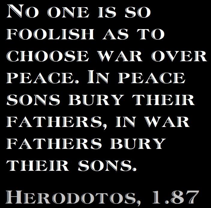 Herodotos about war