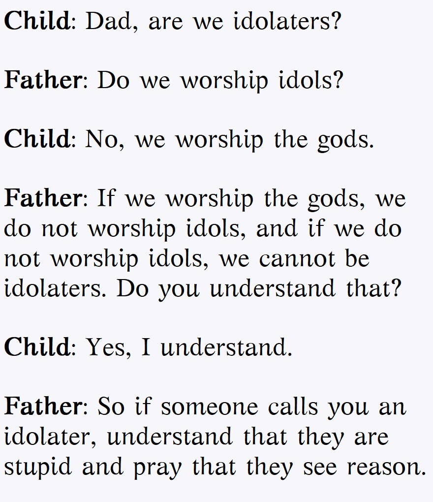 A child asks his father (i)